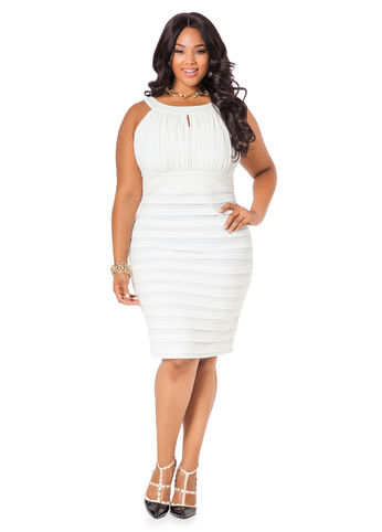 Plus size wedding guest dress